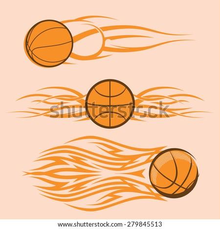 Tribal Basketballs - stock vector