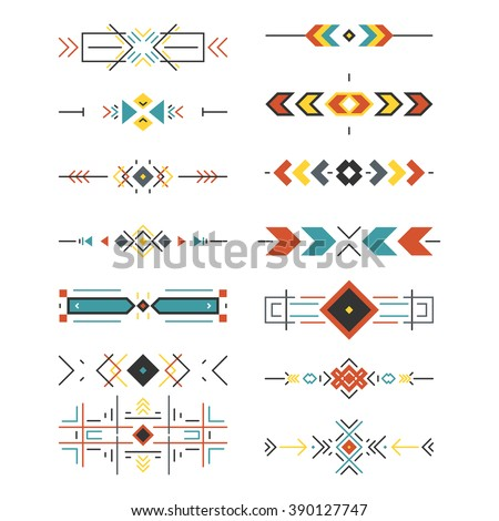 Tribal border collection made in modern and clean vector. Line style art.