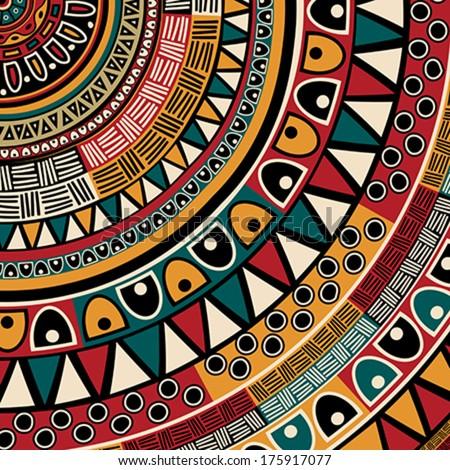 Tribal ethnic background, abstract art - stock vector