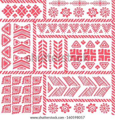 Tribal ethnic pattern - stock vector