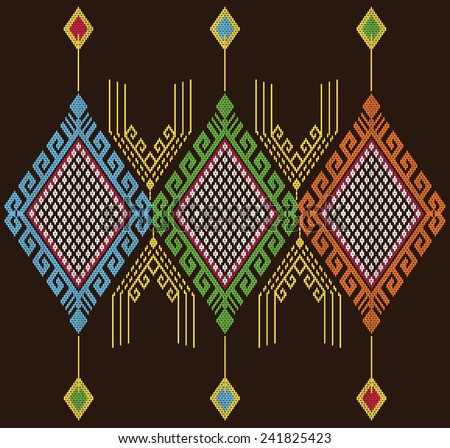 Tribal ethnic vector pattern.Designs for fabric and printing.Abstract beautiful background. - stock vector