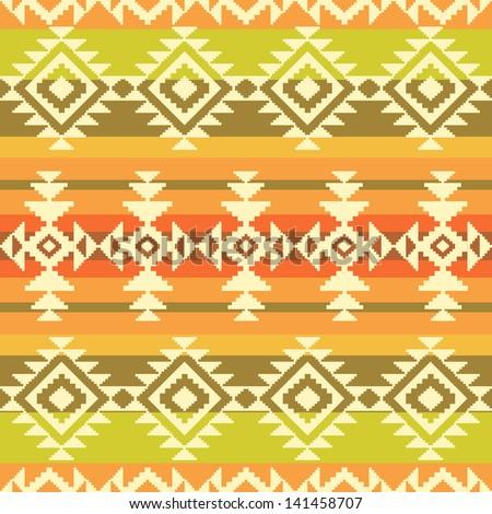 Tribal geometric striped pattern - stock vector