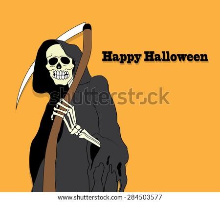 Tribal grim reaper - stock vector