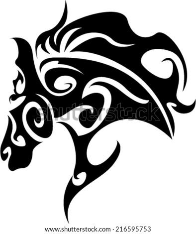 Tribal Horse - stock vector