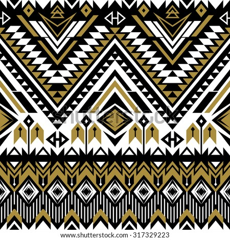 tribal Navajo ornamental seamless pattern. aztec abstract geometric print. ethnic hipster backdrop. traditional American decoration. wallpaper, web page background, fabric, textile, paper, postcards. - stock vector
