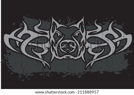 tribal pit - stock vector
