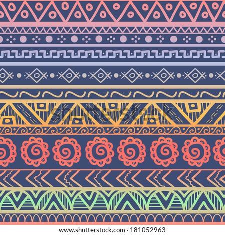 Hand drawn aztec backg...