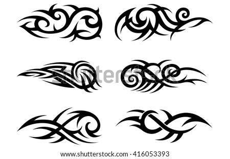 Tribal Tattoo Pattern - stock vector
