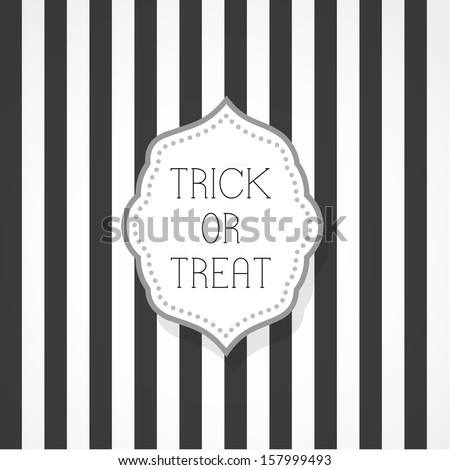 Trick or treat - stock vector