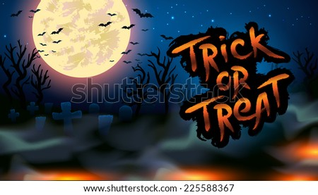 Trick or treat Halloween illustration - EPS10 - stock vector