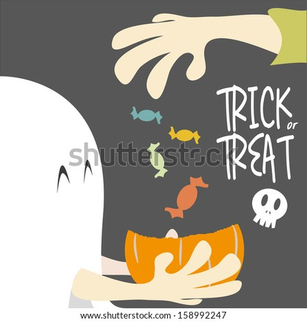 Trick or Treat Halloween - vector  - stock vector