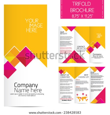Trifold Business Brochure - stock vector
