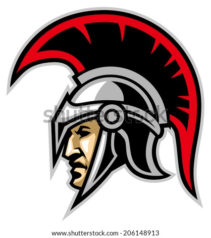 trojan army mascot - stock vector