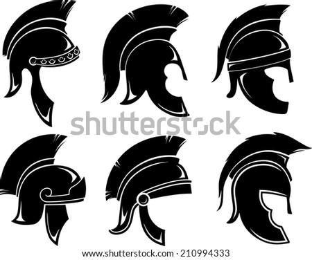 Trojan Helmet Set - stock vector