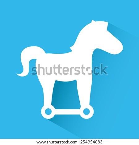 trojan horse design, vector illustration eps10 graphic  - stock vector