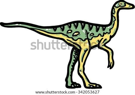 Troodon dinosaur design illustration dragon of archeology - stock vector