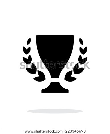 Trophy and awards icon on white background. Vector illustration. - stock vector