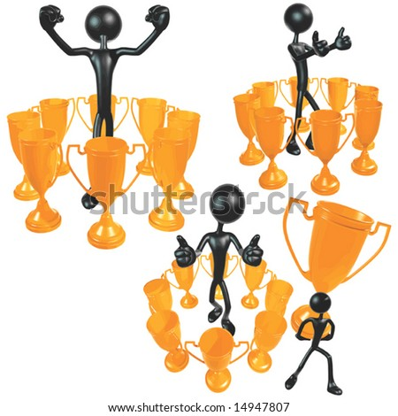 Trophy Concepts - stock vector