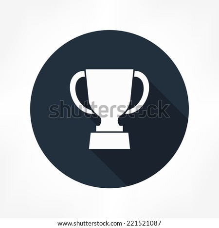 trophy icon - stock vector