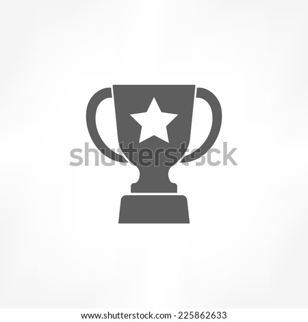 trophy icon  - stock vector