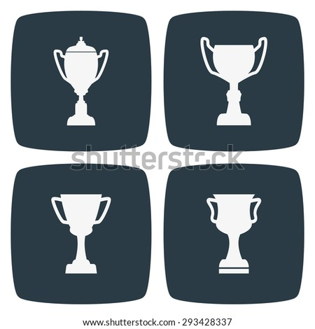 Trophy Icons - stock vector