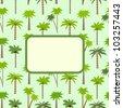 Tropical invitation card. Template frame design for card. - stock vector