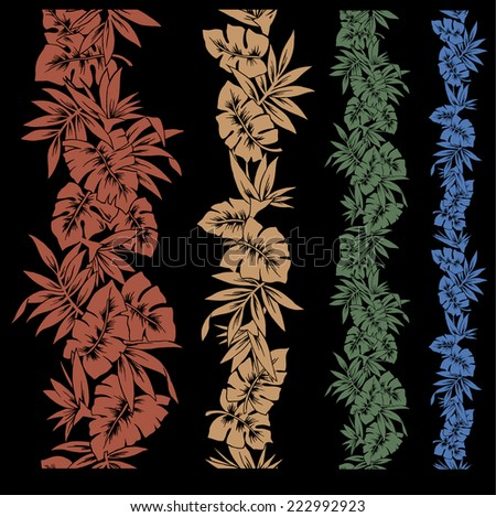 tropical plant - stock vector