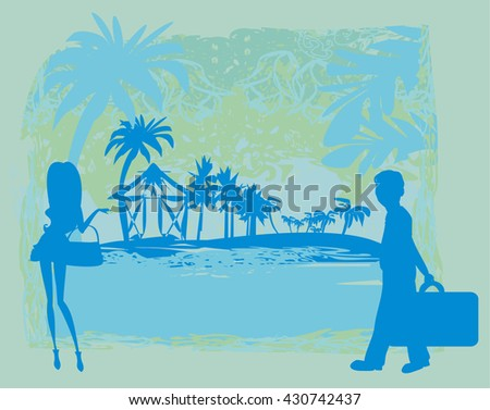 tropical vacation - stock vector