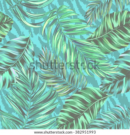 tropical vector pattern.  - stock vector
