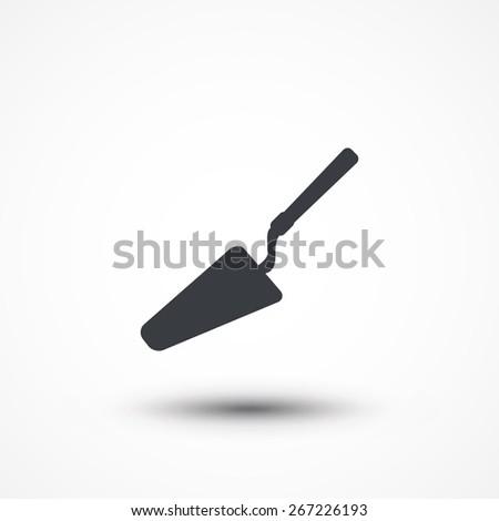 Trowel icon. - stock vector