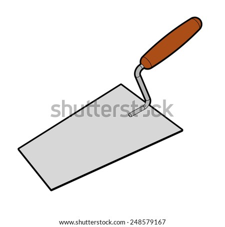 Trowel illustration isolated on white background - stock vector