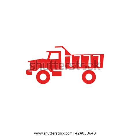 truck icon stock vector illustration - stock vector