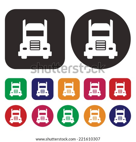 Truck icon .Transport icon - stock vector