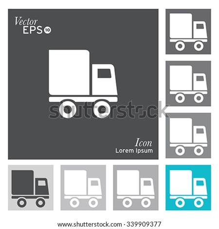 Truck icon - vector, illustration. - stock vector