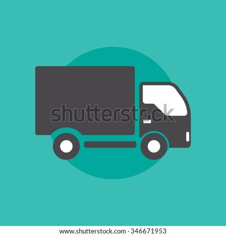 Truck sign - stock vector