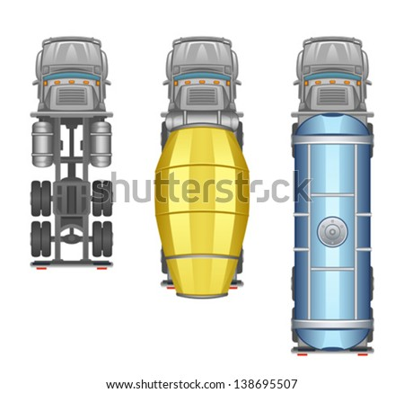 Truck top view - stock vector