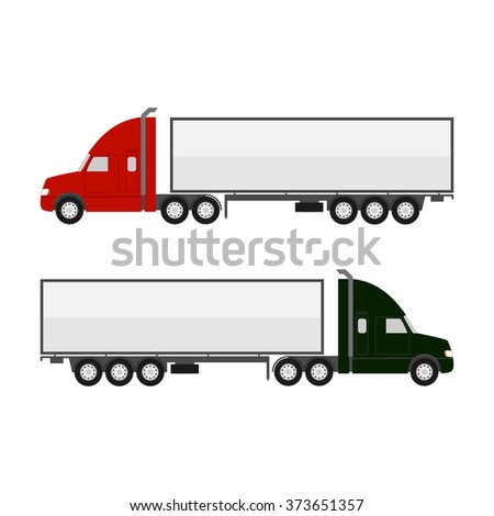 Truck Trailer illustration - stock vector