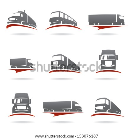 Trucks set. Vector  - stock vector