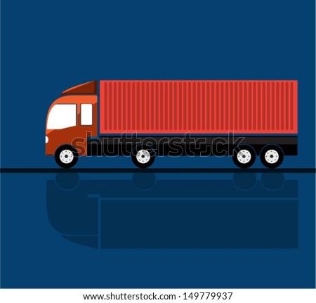 Trucks . Vector - stock vector