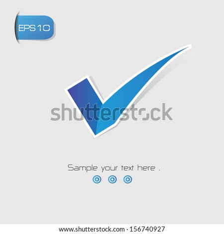True symbol,vector - stock vector
