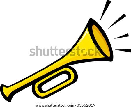 trumpet - stock vector