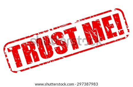 Trust me red stamp text on white - stock vector