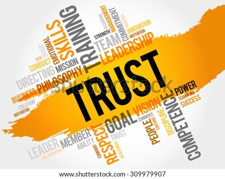 TRUST word cloud, business concept - stock vector
