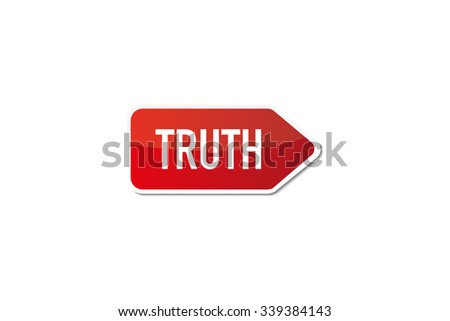 Truth - stock vector