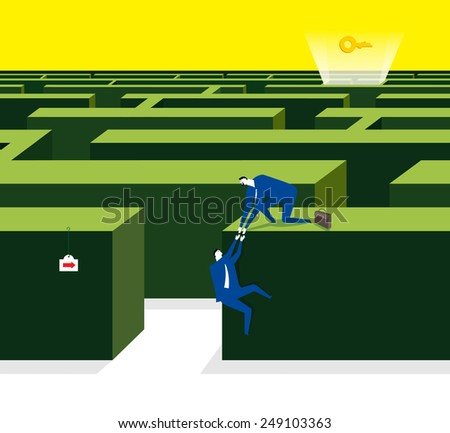 Try a way together to get the idea  - stock vector