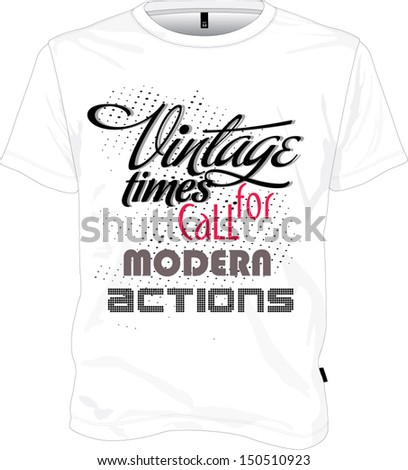Tshirt design vintage - stock vector