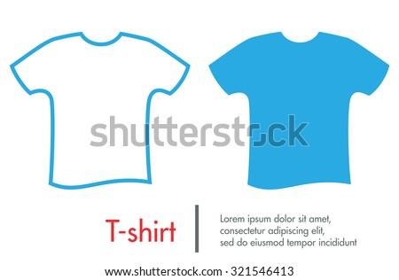 Tshirt vector icon. - stock vector