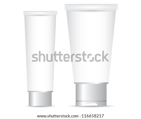 Tube for cream - stock vector