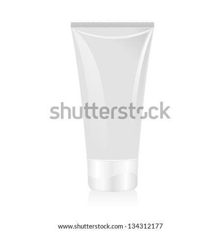 Tube of cream isolated - stock vector