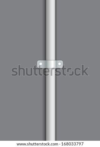 tube on gray background - stock vector